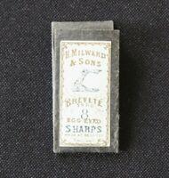 Ancien étui Aiguille MILWARD 8 mercerie Needle sharp Sewing Nadeln