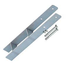 4-er Set Pfostenträger H-Anker 9 cm, Betonanker mit 8 Schrauben 10x110 mm