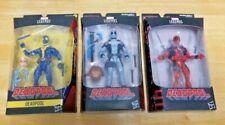 Marvel Legends ~ DEADPOOL ~ with BAF parts ~  Lot of 3