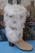 Women's HUSH PUPPIES Winter Boot Brown Leather Fur/Fleece sz.7.5 M , STYLE 75217