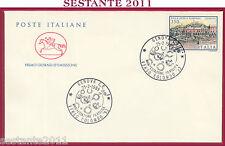 ITALIA FDC CAVALLINO FILATELICA VERSO COLOMBO '92 1989 ANNULLO GENOVA U520
