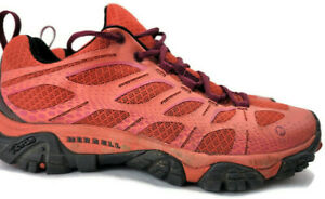 Merrell Women's Low Top Coral Pink Orange Vibram Hiking Shoes Sneakers Size 7