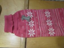 Knit Dog or cat Sweater Knitwear Christmas  Clothes Pet Jumper collar Vest  PINK