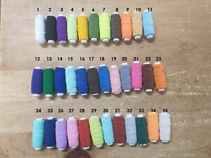 10 x Shirring Thread Elastic - 20m per reel - 200m total