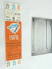 Toronto Blue Jays vs Kansas City Royals  Aug 6, 1979 Ticket Stub