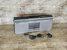 More details for philips portable 80s stereo fm radio cassette boombox vintage d8112