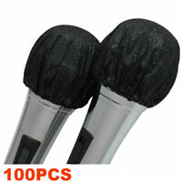 100PCS Mike Cover Odor Removal Disposable Microphone Grill Hygiene Cover Black