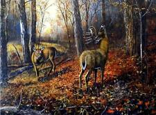 "Jim Hansel ""Signs of Autumn "" Signed and NumberedDeer Buck Print  28"" x 19"""