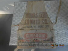 Vtg Slatington Pa Ruberoid Asphalt Asbestos Building Materials Kern Lumber Apron