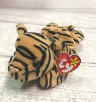 Stripes Tiger 5th Generation 1995 Retired Ty Beanie Baby Collectible Gift Mint