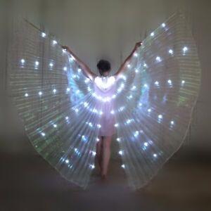 Women Girls LED Lights Isis Wings Belly Dance Egyptian Wings Fairy Glowing Wings
