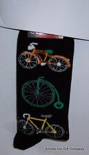 Bicycles on Black Mens/Womens Socks