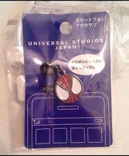 Universal Studios Japan Marvel SPIDERMAN-Mobile Headphone Jack Plug/Cap CHARM!!!
