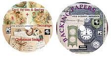 Tarjeta Versos & comillas + Decoupage + Todo Para cardmaking + papel del forro Dvd