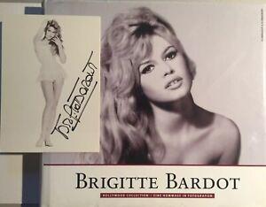 Brigitte Bardot signiert Karte Film original Unterschrift Signatur Autogramm