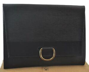 Authentic Louis Vuitton Epi Iena 32 Clutch Bag Black LV C3249