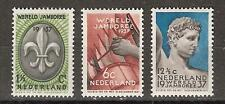 NVPH Netherlands Nederland 293 - 295 MLH ong. 1937 Wereld Jamboree Vogelenzang