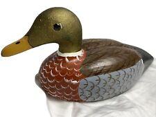Gerald Davis Duck Decoy Wood Mallard Fishtown Hand Carved Vintage