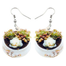 Acrylic Succulent Plant Cactus Earrings Drop Dangle Charm Jewelry For Women Gift