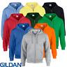 Gildan MEN'S ZIPPED HOODIE FULL ZIP SWEATSHIRT HOOD PLAIN HEAVY BLEND NEON S-5XL