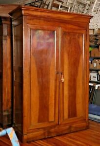 BEAUTIFUL ANTIQUE French Louis Philippe Style Walnut ARMOIRE, 1860-1870