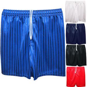 Unisex Boys Girls Kids Children School Sports Shadow Stripe Pe Football Shorts
