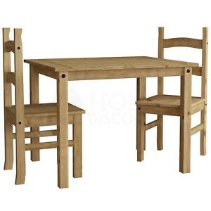 SALE Corona Dining Set 2 Seater Chairs Table Solid Pine Wood Mexican
