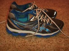 Asics Gel Cumulus 14 Blue Gray Running Shoes Womens Size 8.5