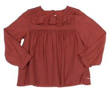 Chloe Flared Roundneck Long Sleeved Top Brick RRP £73