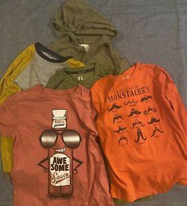 Lot Of 5-Boys Sz 10/12 LS Shirts Tucker Tate, Oshkosh, Russell, Old Navy, Place