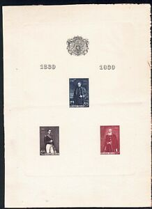 """1930 BELGIUM """"commemoration of the centenary of independence"""" OBP LX2!"""