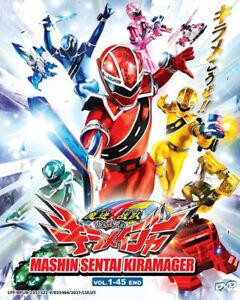 Mashin Sentai Kiramager DVD (Vol : 1 to 45 end) with English Subtitle