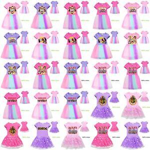 Girls Roblox Summer Pleated Dress Short Sleeved Fgteev Gurkey Rainbow Lace Dress