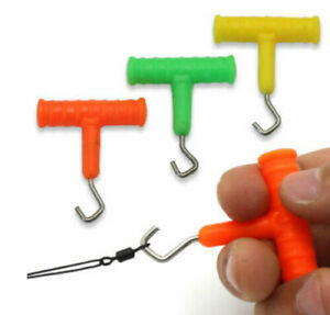 1/2 x Rig Puller Knot Tightener Tool Carp Fishing Terminal Tackle Hook Line Rig