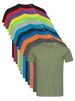 Mens Plain Summer Weight Crew Neck Cotton Tee Tshirt T-Shirt S-XXL Regular Fit