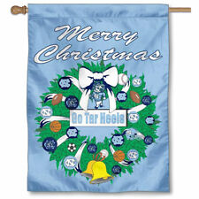 Unc Tar Heels Merry Christmas Wreath Decorative Holiday Wreath House Flag