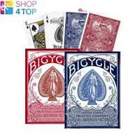 2 DECKS OF BICYCLE NO. 1 AUTOBIKE 1 RED AND 1 BLUE POKER PLAYING CARDS BOX NEW