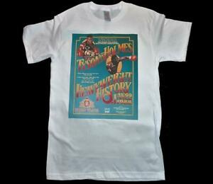 Mike Tyson Vs Larry Holmes fight poster White T-Shirt Size S-3XL boxing