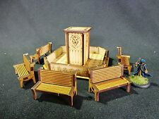TTCombat - Old Town Scenics - Fountain Park Set - Great for Malifaux