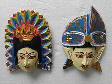 Multi-color Maschere di legno da Bali Rama Sita, NMST65X