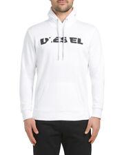 Diesel Men's Cotton White Agnes Bro Hoodie Sweatshirt NWT $128 Size M,L,XL,XXL