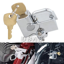 "Motor Helmet Lock Anti-theft for 7/8"" 22mm engine guards tubes 45732-86 Chrome"