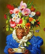 "High Quality Oil Painting ""Dress Monkey #051"" 24""x20"""