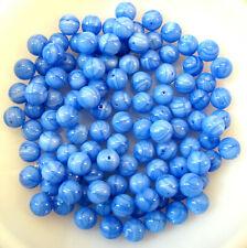 Glasschmuckstein mit Loch in blau/grau zu 50g verpackt - AE1038