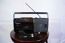 Vintage Sony CFM-140 portable tape player radio tested / works