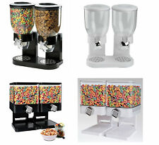 LARGE DOUBLE CEREAL DISPENSER DRY FOOD GRAINS CONTAINERS NUTS