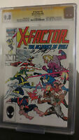 X-Factor #5 CGC 9.8 1st appearance of Apocalypse Signed Bob Layton White pgs