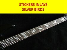 STICKERS INLAYS SILVER BIRDS FRETBOARD DECAL FRET MARKERS VISIT MY NEW STORE