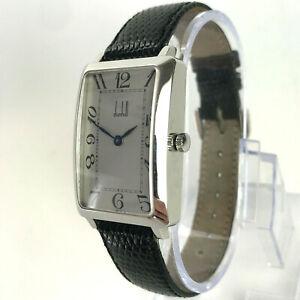 Vintage DUNHILL Centenary Rectangle Mechanical Watch silver dunhillion facet