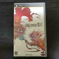 Used Final fantasy Type zero 0 PSP Japan version rei shiki SQUARE ENIX japan